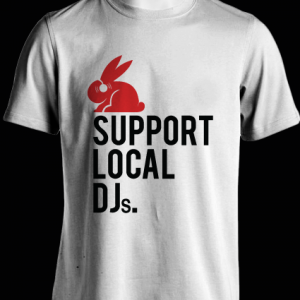 Support Local DJ's Shirt (White)